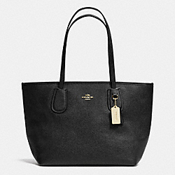 COACH COACH TAXI ZIP TOTE IN CROSSGRAIN LEATHER - LIGHT GOLD/BLACK - F36355
