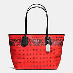 COACH F36357 - COACH TAXI ZIP TOP TOTE IN CROSSGRAIN LEATHER SVDRK