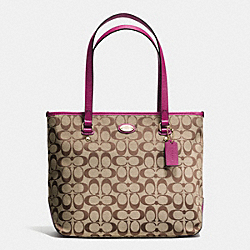 COACH F36375 - ZIP TOP TOTE IN SIGNATURE IMA9H