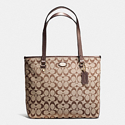 COACH F36375 - ZIP TOP TOTE IN SIGNATURE IMCBQ