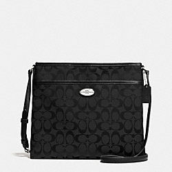 COACH F36378 - FILE BAG IN SIGNATURE  SILVER/BLACK/BLACK