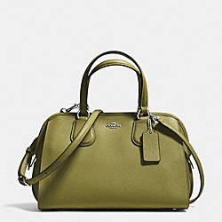 COACH F36392 - NOLITA SATCHEL IN CROSSGRAIN LEATHER SILVER/MOSS