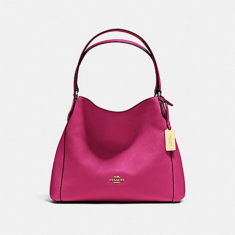 COACH f36464 EDIE SHOULDER BAG 31 CERISE/LIGHT GOLD