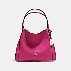 COACH F36464 - EDIE SHOULDER BAG 31 CERISE/LIGHT GOLD
