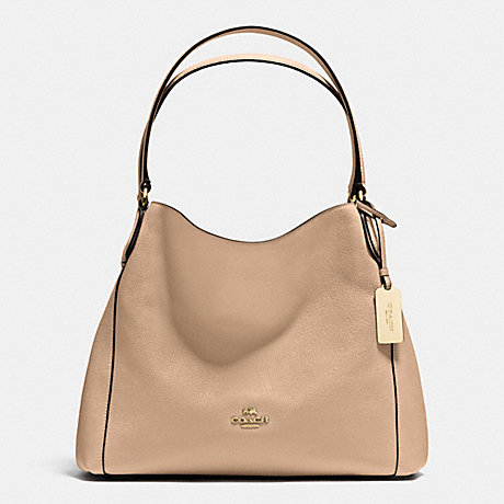 COACH f36464 EDIE SHOULDER BAG 31 IN REFINED PEBBLE LEATHER LIGHT  GOLD BEECHWOOD e393194e53a68