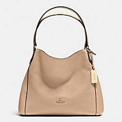 COACH EDIE SHOULDER BAG 31 IN REFINED PEBBLE LEATHER - LIGHT GOLD/BEECHWOOD - F36464