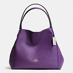 COACH F36468 - EDIE 31 SHOULDER BAG IN CROSSGRAIN LEATHER SILVER/VIOLET