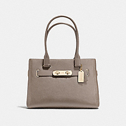COACH F36488 - COACH SWAGGER CARRYALL LIGHT GOLD/FOG