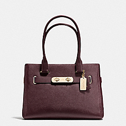 COACH F36488 - COACH SWAGGER CARRYALL LIGHT GOLD/OXBLOOD