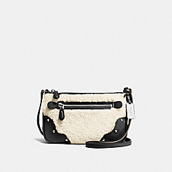 SMALL RHYDER POCHETTE - f36490 - SILVER/NATURAL/BLACK