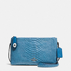 COACH F36521 - CROSBY CROSSBODY IN SNAKE EMBOSSED LEATHER SILVER/PEACOCK