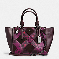 COACH F36531 - CROSBY CARRYALL IN PATCHWORK LEATHER LIGHT GOLD/MOSS