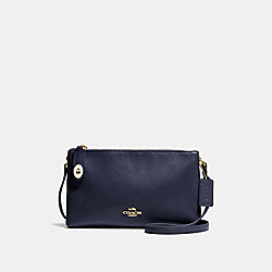 CROSBY CROSSBODY - f36552 - NAVY/LIGHT GOLD