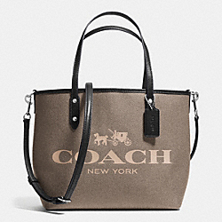 COACH F36588 Small Metro Tote In Coated Canvas SILVER/BROWN