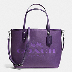 COACH F36588 - SMALL METRO TOTE IN COATED CANVAS SILVER/PURPLE IRIS