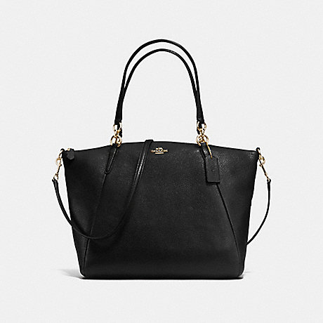COACH f36591 KELSEY SATCHEL IN PEBBLE LEATHER IMITATION GOLD/BLACK