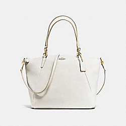 KELSEY SATCHEL IN PEBBLE LEATHER - f36591 - IMITATION GOLD/CHALK