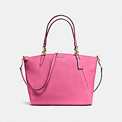 KELSEY SATCHEL IN PEBBLE LEATHER - f36591 - IMITATION GOLD/DAHLIA