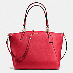 COACH F36591 Kelsey Satchel In Pebble Leather IMITATION GOLD/CLASSIC RED