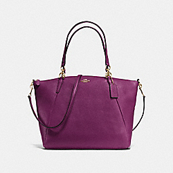 COACH F36591 - KELSEY SATCHEL IN PEBBLE LEATHER IMITATION GOLD/PLUM