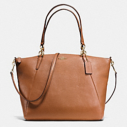 COACH F36591 - KELSEY SATCHEL IN PEBBLE LEATHER IMITATION GOLD/SADDLE