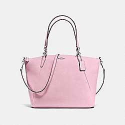 KELSEY SATCHEL IN PEBBLE LEATHER - f36591 - SILVER/PETAL