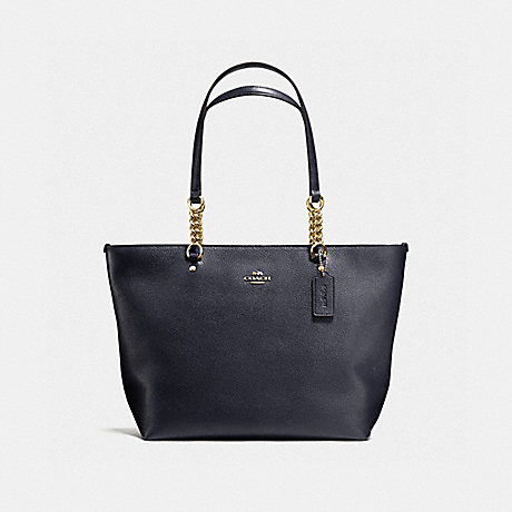 COACH f36600 SOPHIA TOTE NAVY/LIGHT GOLD