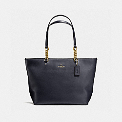 SOPHIA TOTE - f36600 - NAVY/LIGHT GOLD