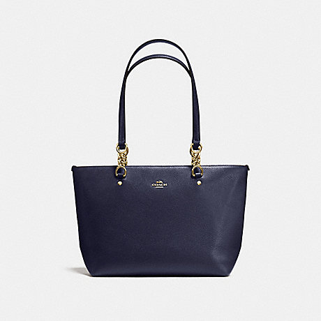 021c23dc426 COACH f36604 SOPHIA SMALL TOTE IN POLISHED PEBBLE LEATHER LIGHT GOLD/NAVY