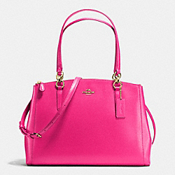 COACH F36606 - CHRISTIE CARRYALL IN CROSSGRAIN LEATHER IMITATION GOLD/PINK RUBY