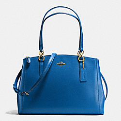 COACH F36606 Christie Carryall In Crossgrain Leather IMITATION GOLD/BRIGHT MINERAL