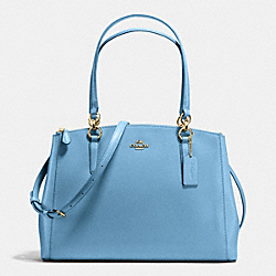 COACH F36606 Christie Carryall In Crossgrain Leather IMITATION GOLD/BLUEJAY