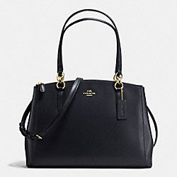 COACH F36606 - CHRISTIE CARRYALL IN CROSSGRAIN LEATHER IMITATION GOLD/MIDNIGHT
