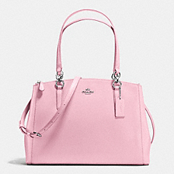 COACH F36606 Christie Carryall In Crossgrain Leather SILVER/PETAL