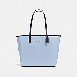 COACH F36609 - REVERSIBLE CITY TOTE SILVER/DUSK