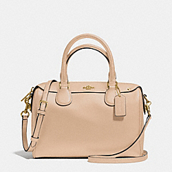 COACH F36624 Mini Bennett Satchel In Crossgrain Leather  IMITATION GOLD/NUDE