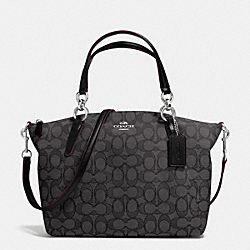 COACH F36625 Small Kelsey Satchel In Signature SILVER/BLACK SMOKE/BLACK