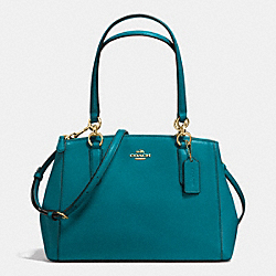 COACH F36637 - SMALL CHRISTIE CARRYALL IN CROSSGRAIN LEATHER IMITATION GOLD/ATLANTIC