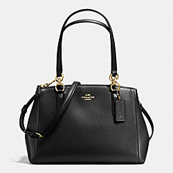 COACH F36637 - SMALL CHRISTIE CARRYALL IN CROSSGRAIN LEATHER IMITATION GOLD/BLACK