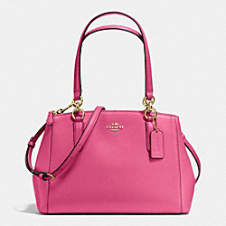 COACH F36637 - SMALL CHRISTIE CARRYALL IN CROSSGRAIN LEATHER IMITATION GOLD/DAHLIA