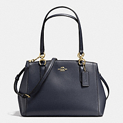 COACH F36637 - SMALL CHRISTIE CARRYALL IN CROSSGRAIN LEATHER IMITATION GOLD/MIDNIGHT