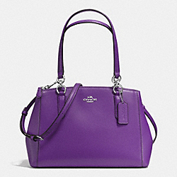 COACH F36637 - SMALL CHRISTIE CARRYALL IN CROSSGRAIN LEATHER SILVER/PURPLE