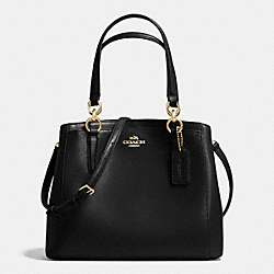 COACH F36642 Minetta Crossbody In Crossgrain Leather IMITATION GOLD/BLACK