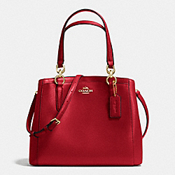 COACH F36642 Minetta Crossbody In Crossgrain Leather IMITATION GOLD/TRUE RED