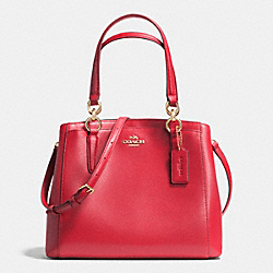 COACH F36642 Minetta Crossbody In Crossgrain Leather IMITATION GOLD/CLASSIC RED