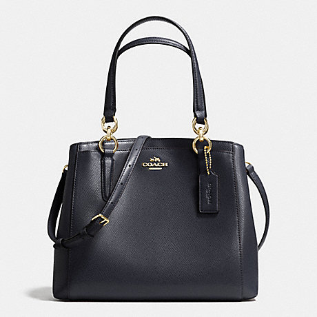 COACH f36642 MINETTA CROSSBODY IN CROSSGRAIN LEATHER IMITATION GOLD/MIDNIGHT