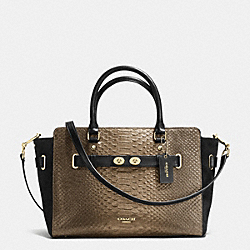 COACH F36655 - BLAKE CARRYALL IN METALLIC EXOTIC EMBOSSED LEATHER IMITATION GOLD/GOLD/BRONZE