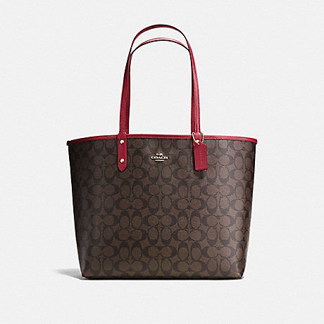 COACH f36658 REVERSIBLE CITY TOTE IN SIGNATURE CANVAS<br>蔻驰可逆城市。签名画布 IMNM4