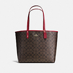 COACH F36658 Reversible City Tote In Signature Canvas IMNM4