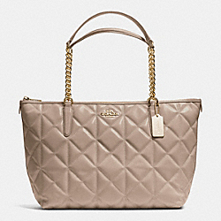 COACH F36661 - AVA CHAIN TOTE IN QUILTED LEATHER IMITATION GOLD/STN
